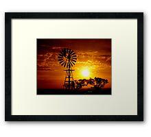 Aussie Sunset Framed Print