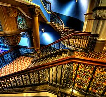 Over The Rails  (Colour)- QVB Building , Sydney - The HDR Experience by Philip Johnson