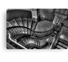 Vertigo - QVB Building  (Monochrome)- The HDR Experience  Canvas Print