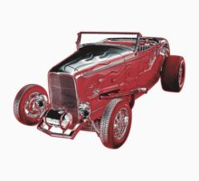 Red Glow '32 Ford by Waves
