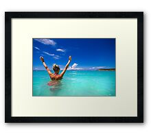 Goodbye and thanks for all the fish Framed Print