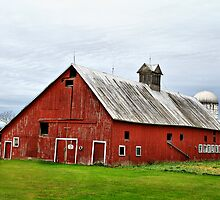 Barn With A Cross by Deborah  Benoit