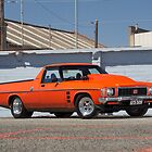 Orange Holden HX Ute by John Jovic