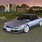 Silver Nissan S13 Silvia by John Jovic