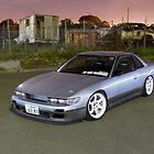 Silver Nissan S13 Silvia by John Jovic