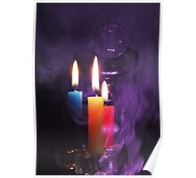 Crystal Ball and Candlelight Poster