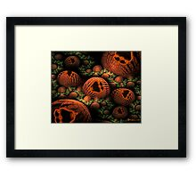 The Happy Halloween Pumpkin Patch Framed Print