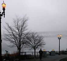 Foggy Morning at the Riverfront by worldtripper