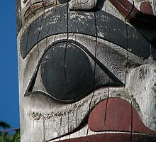 Totem head - the lower beast by Christian Langenegger
