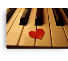 Piano love Canvas Print