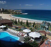 Coogee Beach from the Crowne Plaza Hotel by john-hawkless
