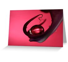 Ruby Drop Greeting Card