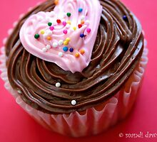 Valentine Heart Cupcake by MandiDawsImages