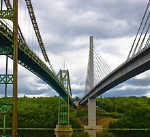 Old Bridge and New Bridge Side by Side by Jamie Mathiau