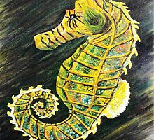 SeaHorse or SeaDragon by WhiteDove Studio kj gordon