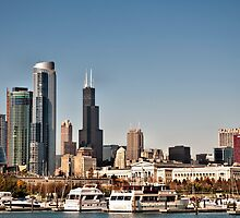 Chicago Sky Line by Jarede Schmetterer
