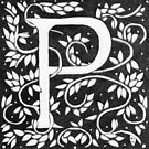 "Art Nouveau ""P"" (William Morris Inspired) by Donnahuntriss"