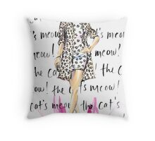 The Cat's Meow! Throw Pillow