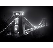 Clifton Suspension Bridge Fog Photographic Print
