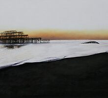 Brighton West Pier-Tranquil sunset by Pauline Sharp