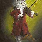 Wolfgang Amadeus Mozart - Cat Composer Violinist by TaraFlyPhotos