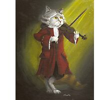 Wolfgang Amadeus Mozart - Cat Composer Violinist Photographic Print
