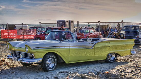 Fairlane Convertible, Oreti Beach by Tony Burton