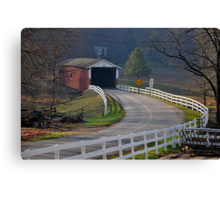Jackson's Saw Mill Covered Bridge Canvas Print