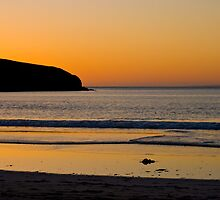 Golden Waves, sunset at St Ninian's Isle, Shetland by ShroomIllusions