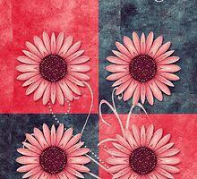 daisies quatuor_card_03v13b by 1001cards
