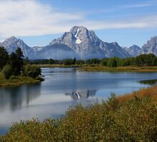 Reflections - Oxbow bend, Grand Teton Park by fung