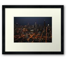 Downtown Chicago - Aerial Photography Framed Print