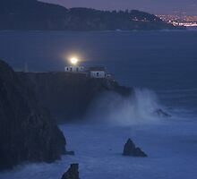 Twilight time sunset at the lighthouse by N2Digital