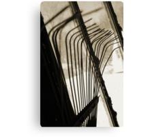 Sepia Tone Metal Rake Prongs Canvas Print