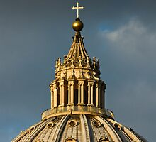St Peters Cathedral Dome, Rome Italy by GJKImages