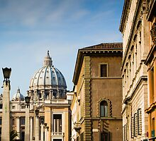St Peters Cathedral View, Rome Italy by GJKImages