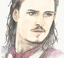 Orlando Bloom  by morgansartworld
