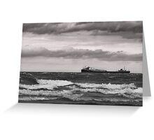 Lake Ontario Freighter Greeting Card