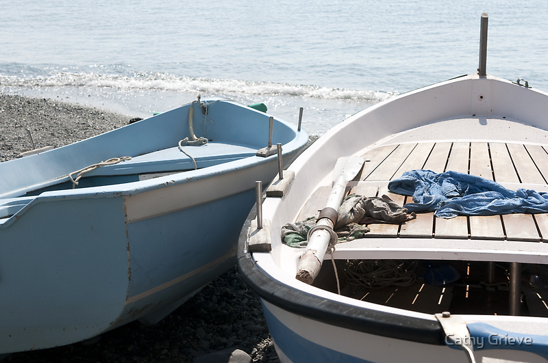 Boats in Monterosso by Cathy Cormack
