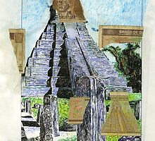 Pyramid in Tikal Guatemala by Tony Sturtevant