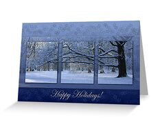 Reaching far - holidays greeting card Greeting Card