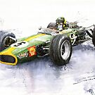Lotus 49 Ford F1 Jim Clark by Yuriy Shevchuk