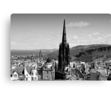 Across the Rooftops Edinburgh style Canvas Print