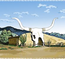 Longhorn Saloon, Arivaca, AZ by MarkArt