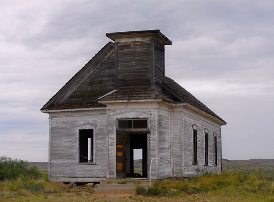 Old Church in Toyah, Texas by Susan Russell