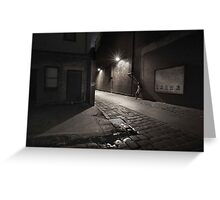 Alley-way, Night, Ballarat Greeting Card