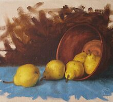 Five Pears by Jamie Jacobsen