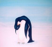 lonley penguin by angela gripton