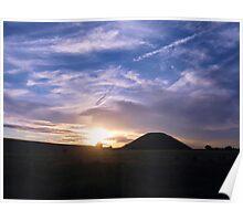 Silbury Sunset - Silbury Hill, Wiltshire #1 Poster