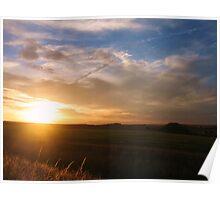 Silbury Sunset - Silbury Hill, Wiltshire #2 Poster